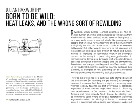 WRITING: Born to be Wild: Heat Leaks, and the Wrong Sort of Rewilding