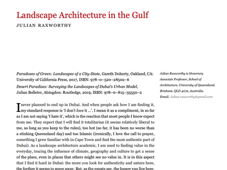 BOOK REVIEW: Landscape Architecture in the Middle East