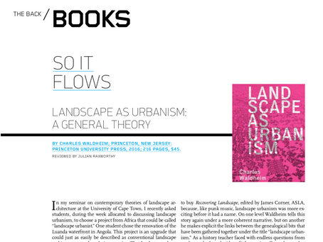 BOOK REVIEW: So it flows.