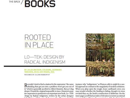 "BOOK REVIEW: ""Lo-Tek; Design by Radical Indigenism"" by Julia Watson"