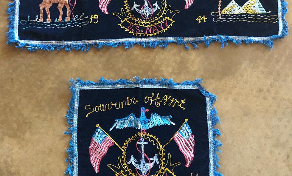 1944 US Navy Souvenir of Egypt Tapestries