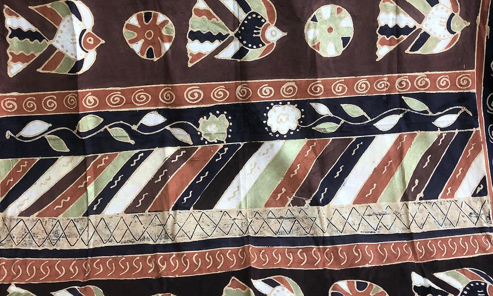 """Batik Tapestry (118"""" x 98"""" Brand New)"""