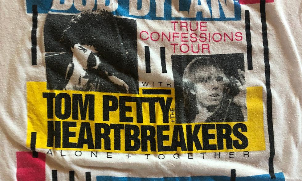 Bob Dylan / Tom Petty True Confessions Authentic Concert Tour T-shirt