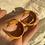Thumbnail: velvet hoop studs - various colours