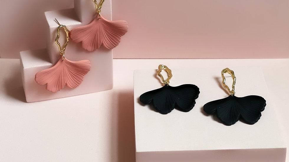 Summer Ginkgo earrings