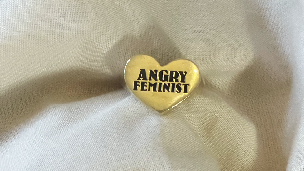 Angry Feminist ring