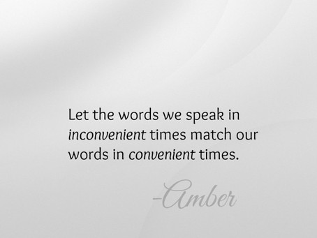 Let Your Words Speak Louder Than Your Words