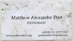 Found document - business card