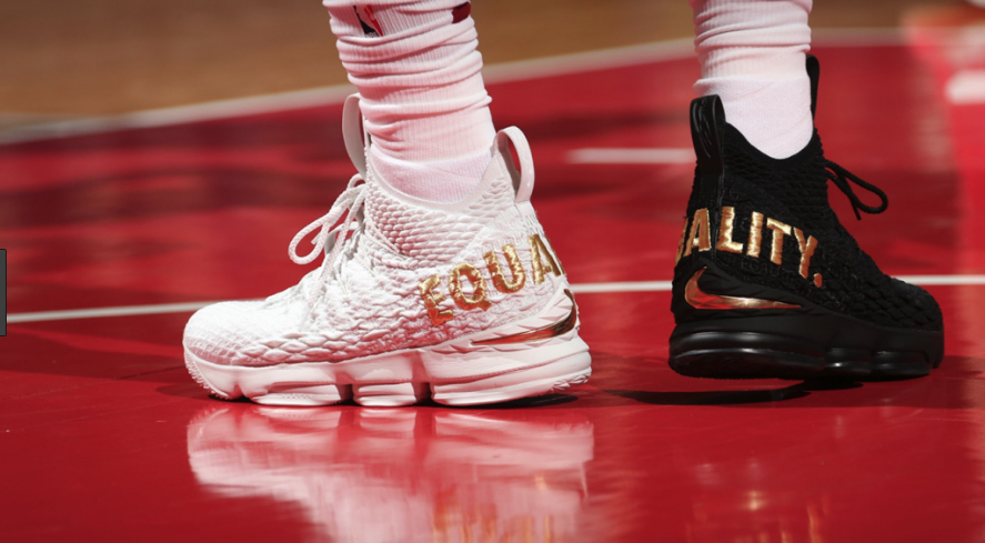 LeBron James mismatched shoes
