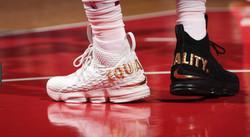 LeBron James mismatched shoes