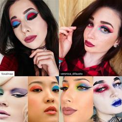 Mismatched eyeshadow makeup