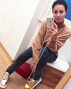 Viktorija wears mismatched and studded sneakers Song by Gen Nee