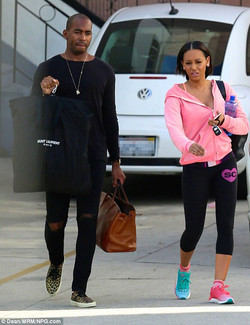 Mel B in mismatched shoes