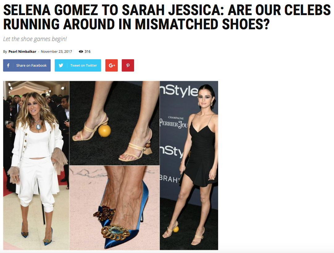 Celebrities LOVE mismatched shoes