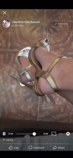 Valentina wears mismatched Brooklyn sandals by Gen Nee (Italy May 2020)