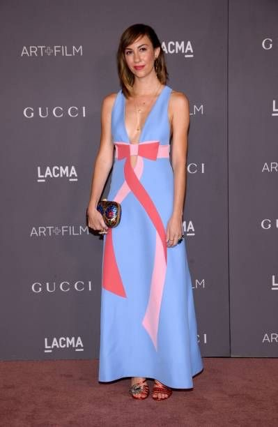 Gia Coppola with mismatched heeled sandals