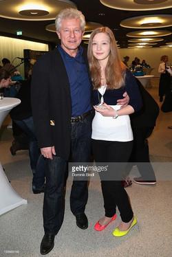 Miroslav Nemec and Nina Nemec with mismatched shoes