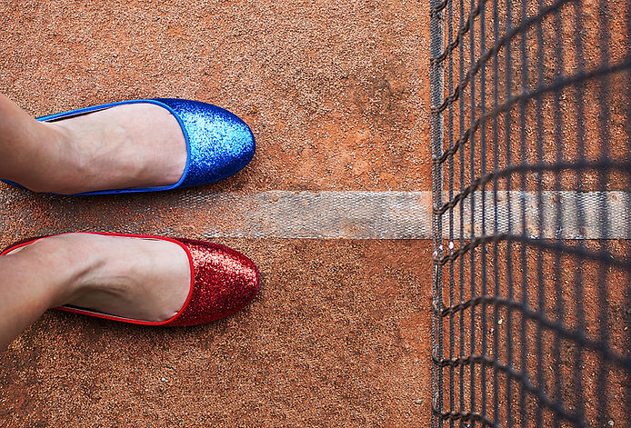 two colour shoes, two color shoes