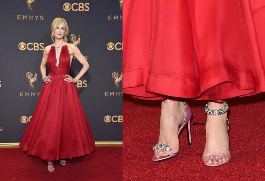 Nicole Kidman in mismatched sandals