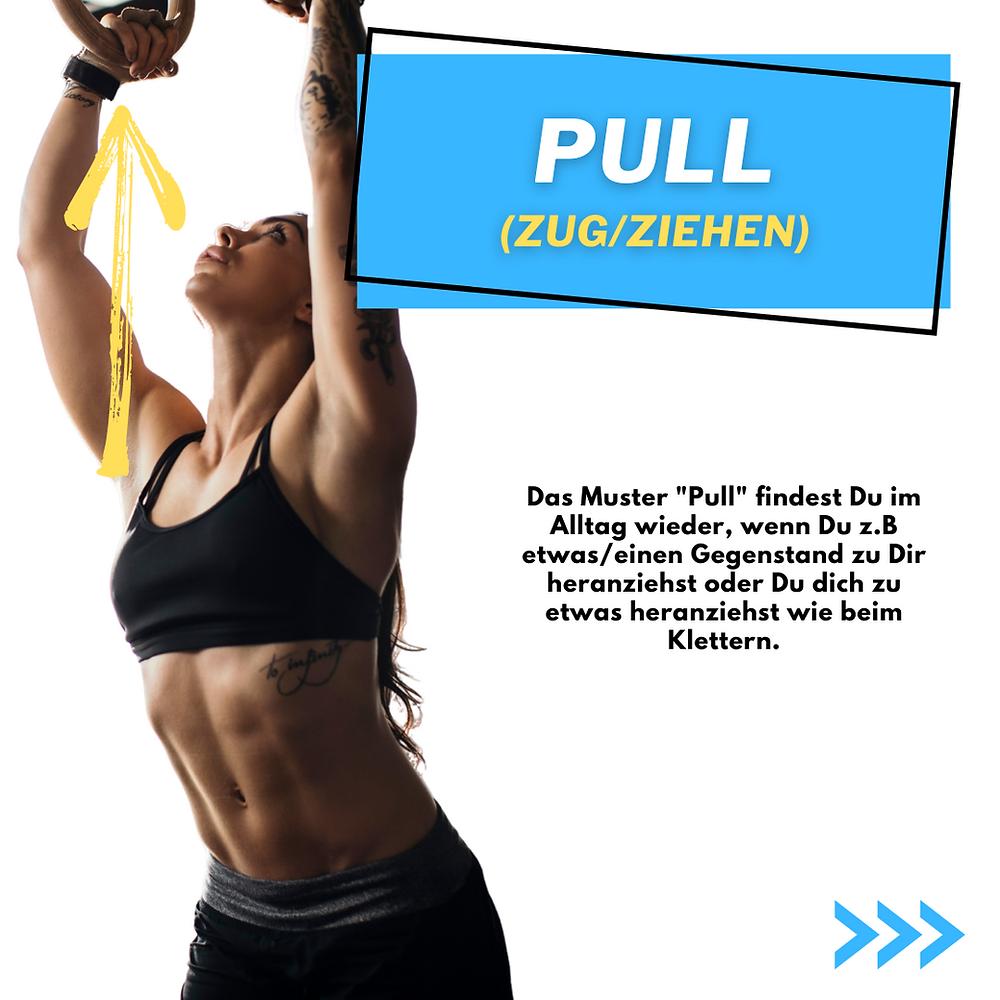 Pull Übungen. Stärke dein Rücken. Stärker werden wenn Du einen Gegenstand zu Dir heranziehst oder stärker werden beim Klettern.