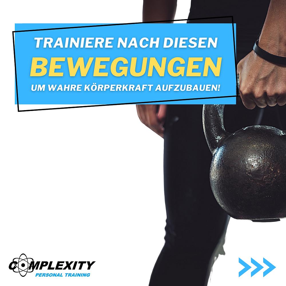 Trainiere nach diesen Bewegungen um wahre Körperkraft und Muskulatur aufzubauen