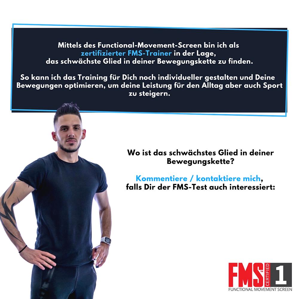 Als zertifizierter FMS Personal Trainer in Schaffhausen. bin ich in der Lage, das schwächste Glied in deiner Bewegungskette zu finden. So kann ich das Fitnesstraining für dich noch individueller gestalten und deine Bewegungen optimieren, um deine Leistung für den Alltag aber auch Sport zu steigern.