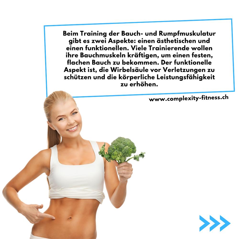 Beim Training der Bauchmuskulatur gibt es zwei Aspekte. Einen ästhetischen und einen funktionellen. Eine starke Körpermitte schützt vor Verletzungen und steigert die körperliche Leistung.