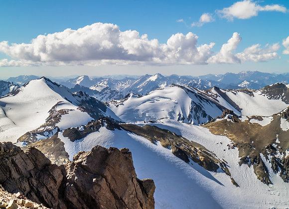 Cordillera de los Andes por la mañana
