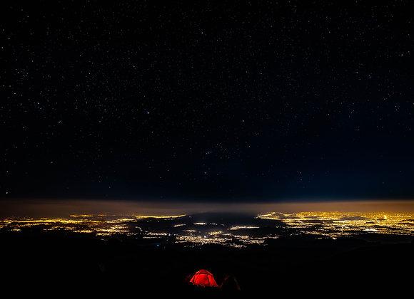 Acampando en Iztaccíhuatl el mirador mas alto de la Ciudad.