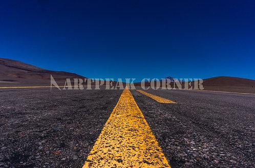 Camino hacia los Andes chilenos