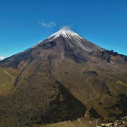Citlaltépetl, la cima de México, fotografía tomada desde la Cima de Sierra Negra