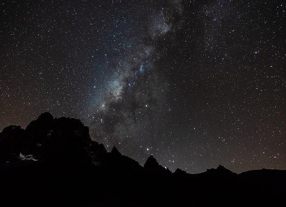 Via Láctea en Kenia desde Campamento Base