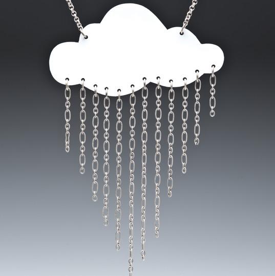 Lg. Rain Cloud Necklace