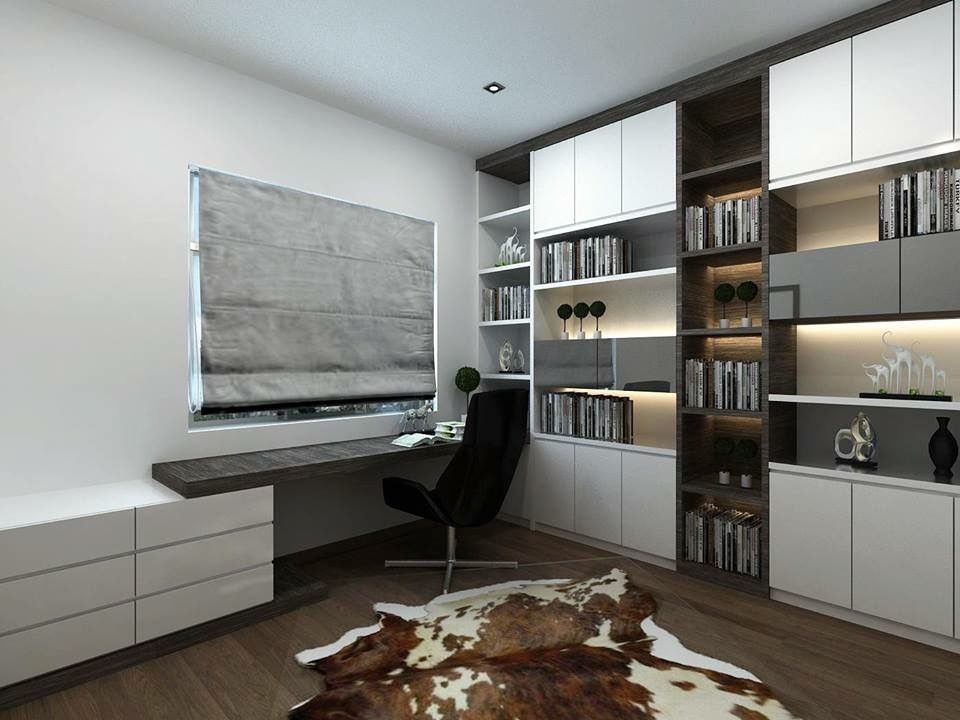 Study table with cabinet