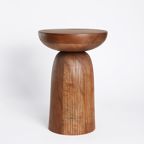 NERA LINES STOOL WALNUT