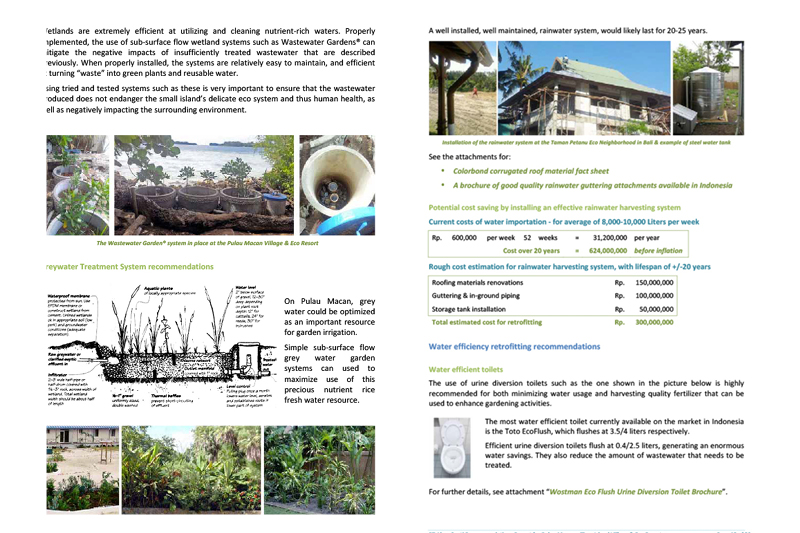 Picasa - Recommendations report for eco-resort exerpt
