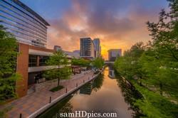 the waterway at sunrise