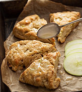Maple Bacon Cheddar and Apple Scones Recipe by MorningStar Kitchen