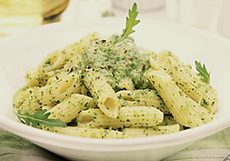 Penne Pasta with Ramp and Pea Pesto Recipe by MorningStar Kitchen
