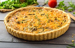 Vermont Woods Sausage and Chedder Potato Quiche Recipe by MorningStar Kitchen