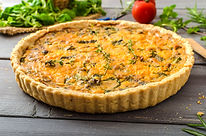 Vermont Woods Sausage and Chedder Quiche Recipe by MorningStar Kitchen