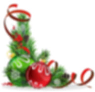 Christmas tree balls with red ribbon_edi