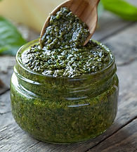 Radish Green and Asparagus Pesto Recipe by MorningStar Kitchen