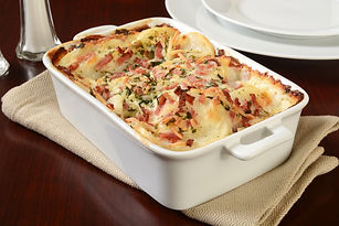 Scalloped Potatoes and Ham Recipe by MorningStar Kitchen