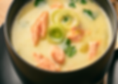 French Salmon and Leek Chowder Recipe by MorningStar Kitchen