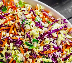 Asian Cole Slaw Recipe with Japanese Table Dressing by MorningStar Kitchen