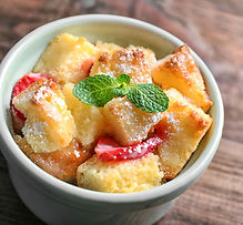 Strawberry Shortcake Bread Pudding Recipe by MorningStar Kitchen