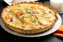 Salmon and Potato Quiche Recipe by MorningStar Kitchen