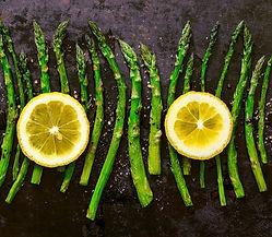 Grilled Asparagus with Vanilla Bean Salt from MorningStar Kitcen