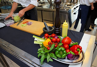 Freshly picked vegetables at the MorningStar Farm test kitchen in Harbor Springs, Michigan